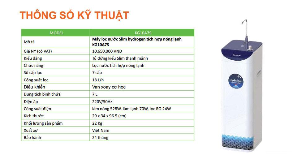 Máy lọc nước Kangaroo KG10A7S